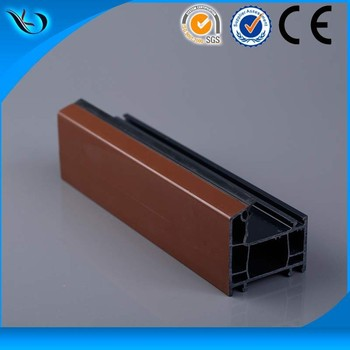UPVC profile frame with ASA color co-extruded , AA grade hardeness upvc windows