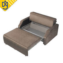 Small lounge brown microfiber dubai sofa bed with drawer