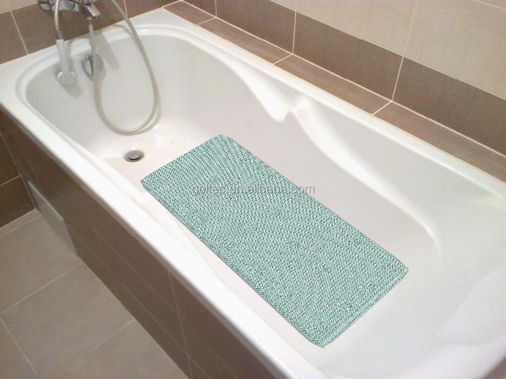 non slip grass loofah padded bath tub mat, View non slip bath tub ...