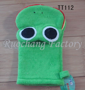 New Arrival Promotional bath glove raw loofah gloves