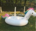 2018 giant pvc inflatable unicorn float toy swimming pool float infaltable unicorn float row with LED for adult