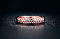 Pure Real 18K Rose gold Double plated rings for women AAA Zircon Diamond rings wedding Bands bijou gem jewel jewelry 18KR007