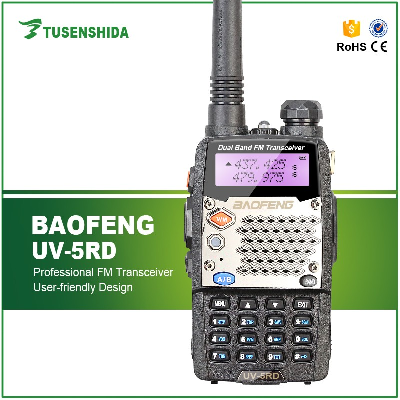 5km Baofeng UV-5RD Handheld wireless fm radio torch mobile phone 136-174/400-520 MHz Two Way Radio