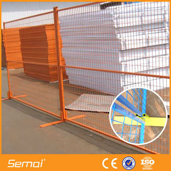 portable fence manufacture popular high quality portable fence with iron feet