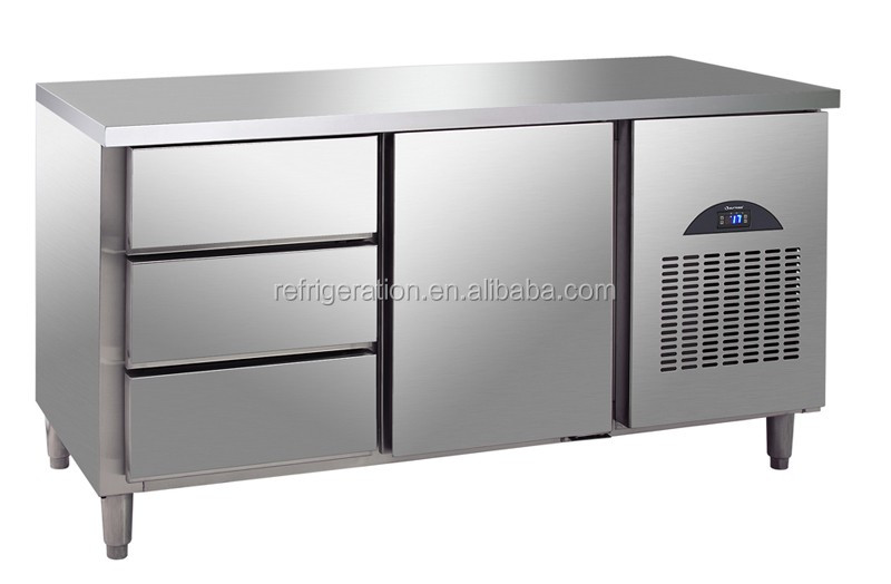 D0.3LD3F Surpass Commercial Stainless Steel Worktable Refrigerator