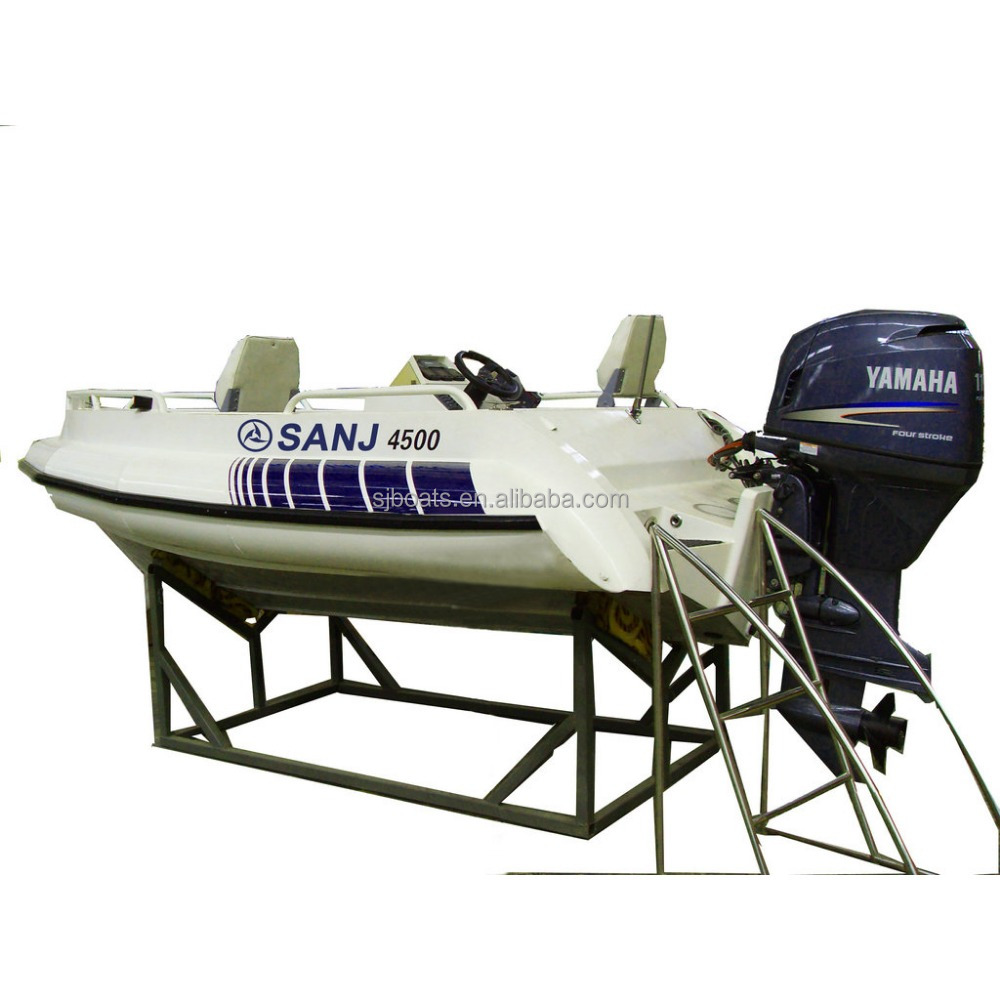SANJ SJA15 Aluminium outboard boats for fishing with High Quality