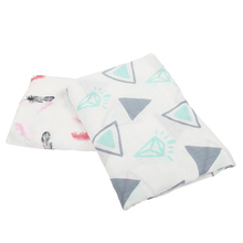 Soft Natural Newborn Unisex Crib Stroller Receiving 2 Pack Muslin 100% bamboo swaddle blankets