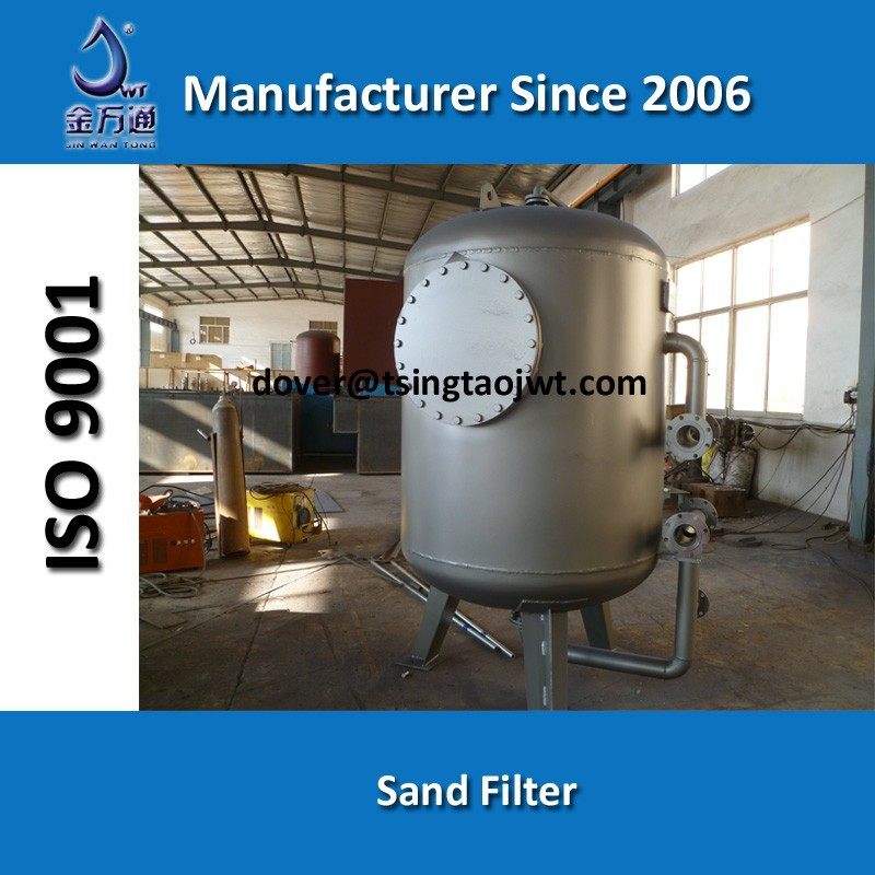 sand filter for water treatment carbon steel tank
