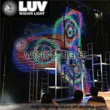 RGB full color led star/video curtain led curtain wall light
