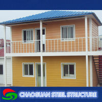 China cheap prefabriacted temporary worker K house Prefabricated house as living house and office