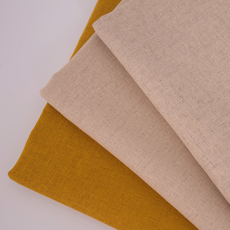 stock in linen cotton fabric for dress and shirt