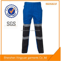 Royal blue/Navy Polyester/cotton workwear pants working work uniform factory