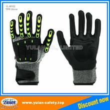 M102 Cut and Impact resistant glove with TPR