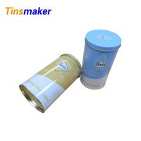 custom wholesale food cylinder tin container