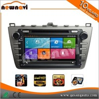 2 din mirror link capacitive touch screen car stereo for Mazda with GPS BT IPOD DVR 1080P TV tuner AM/FM