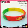 High performance mixed color silicone wrist band
