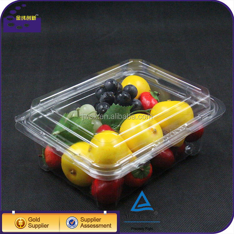 Plastic take out box salad fruit box clamshell packaging