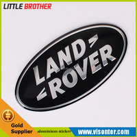 custom Hot sale 3D chrome plated adhesive car emblem for land rovers