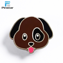 3d dog shaped enamel lapel pin badge with different designs for kids