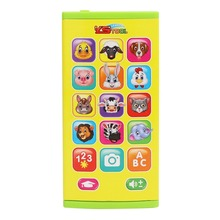 2018 Kids Learning Training Machine Double Sided Screen Early Training Learning Machine Plastic Happy Animal Theme Phone Toy