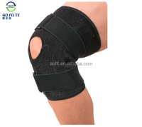 wholesale alibaba OK cloth + neoprene+ nylon black double spring support hinged knee support for sports