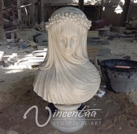 wholesale home decor stone carving female marble busts for sale