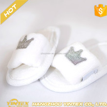 Five Star Hotel Soft Cotton Terry Disposable EVA Slippers with Open Toe for Baby