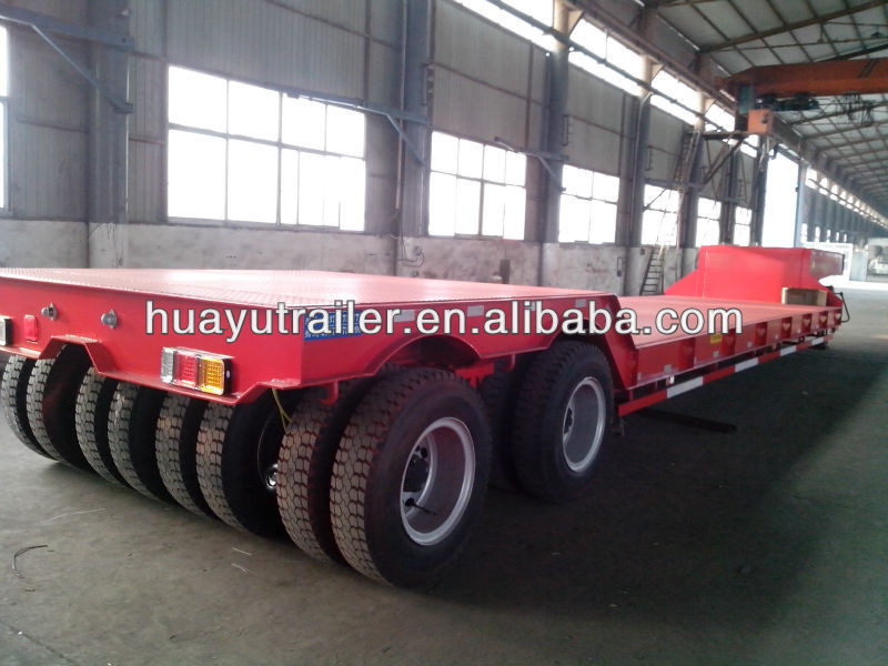 width extendable flat low bed semi trailer