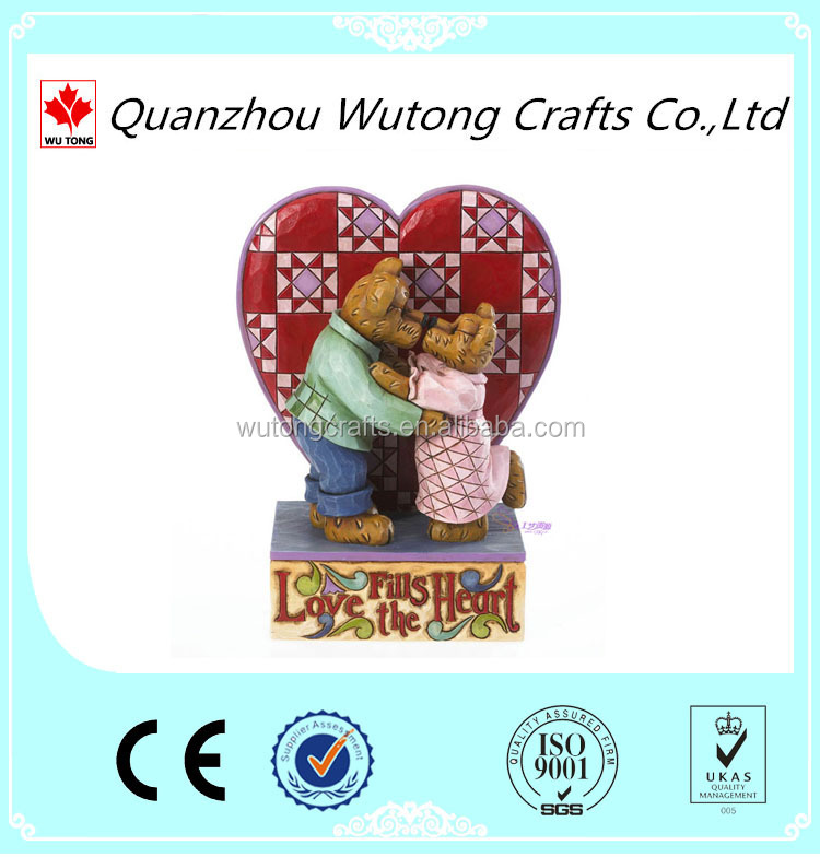 custom Love Couple bear figurines for Wedding gift