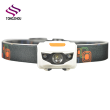 Factory Supply Cheap High Quality 4 modes Light 3*AAA Battery Powered 1W headlamp led for camping