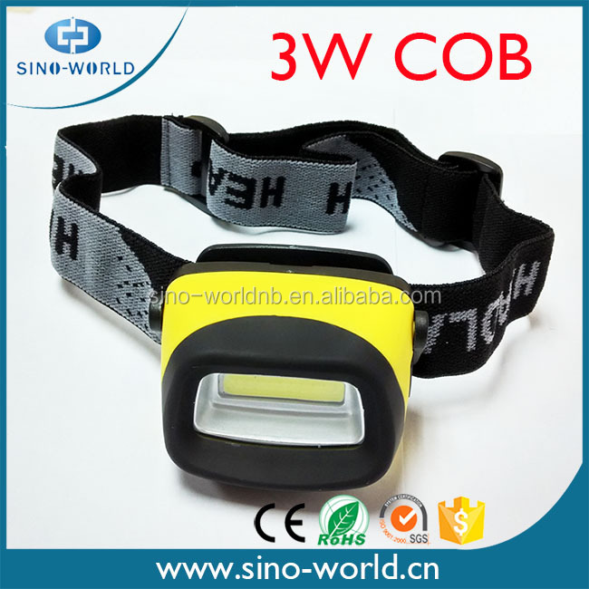 2016 New Hot Selling Super Bright Battery Operated ABS 3W COB plastic headlamp restoration