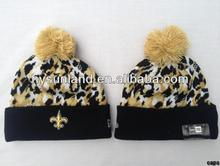 Leopard Cheetah Animal Print Knit Beanie Ski Hat One Size