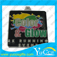 embossed color enamel female custom racing medal