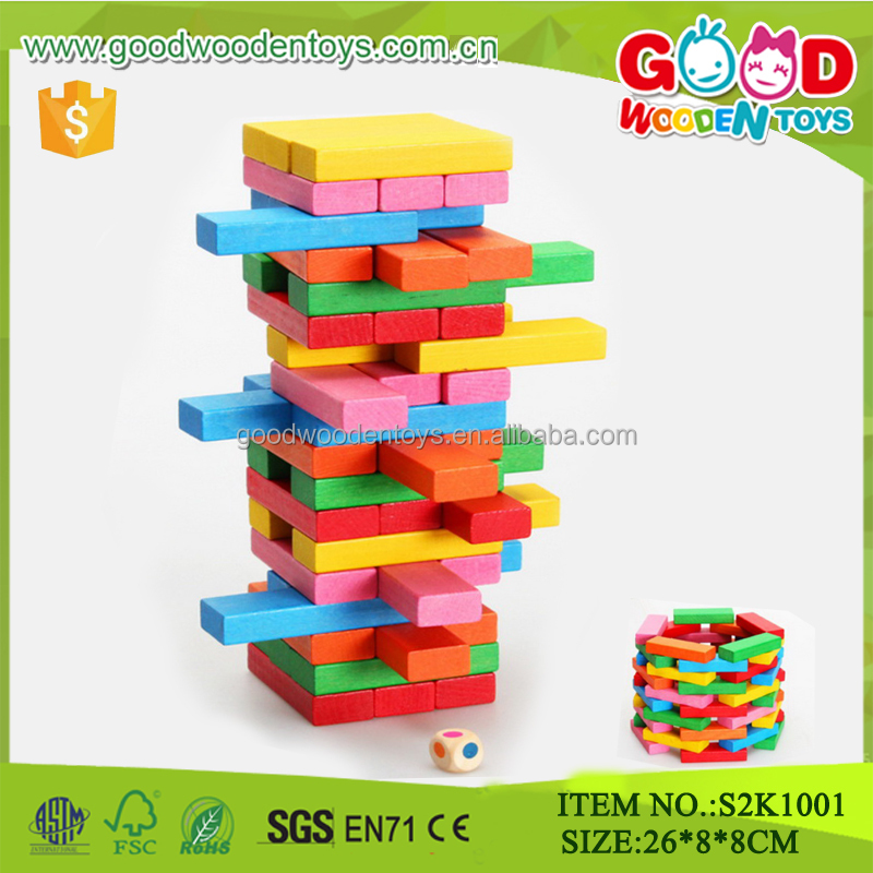 Small wooden toy bricks, toy wooden jenga,educational toys