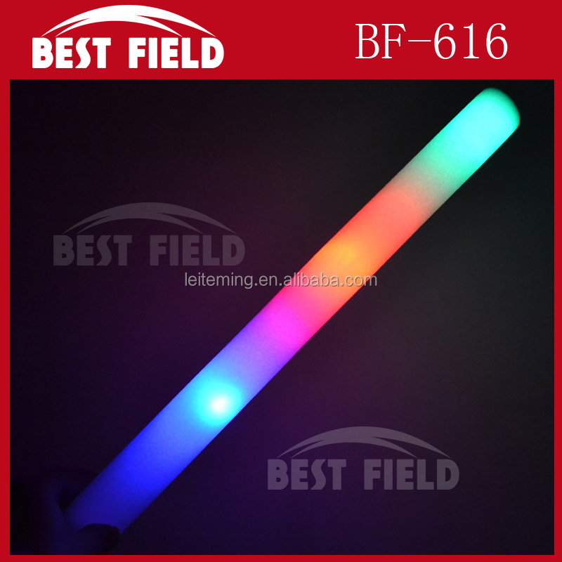 Custom multi color flashing led foam stick