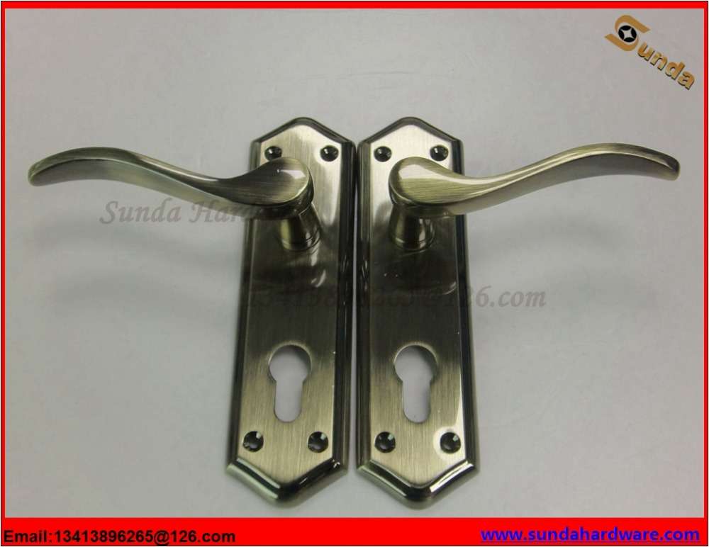 Zinc Alloy Door Handle And Lock With Cylinder Lock And Motise Lock