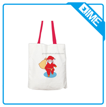 Wholesale cheap canvas tote bag christmas gift bag from big factory