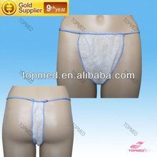 disposable nonwoven female or male tanga for massage SPA salone use