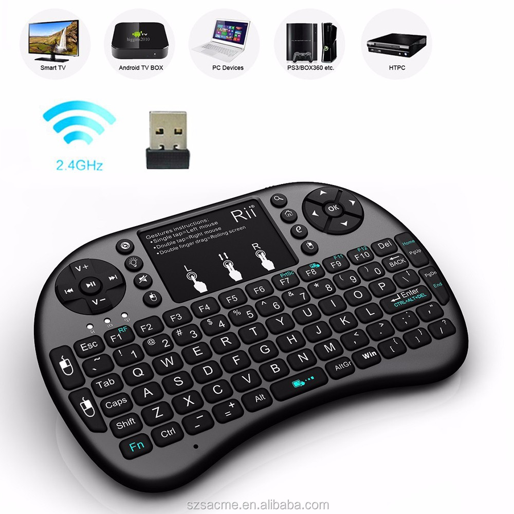 Wireless Keyboard Rii i8 fly Air Mouse Handheld bluetooth Keyboard for PC Laptop