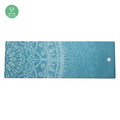 Non-slip Natural Tree Rubber Folding Microfiber Yoga Mat With Customized Printing