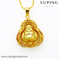 xuping 24K Gold Plating Bulk Fashion Jewelry China buddha statue pendant
