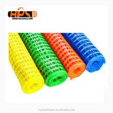 Plastic safety mesh net orange barrier fence for construction safety