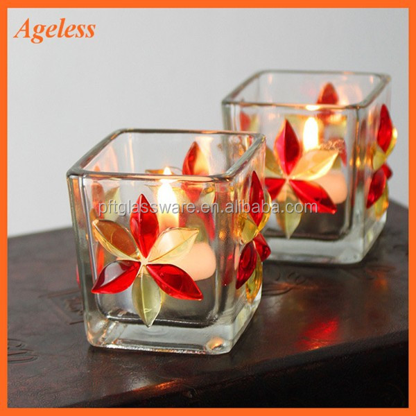 Hot Sale Crystal Candle Holder Decorative Glass Candle