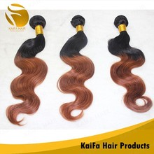 10 Extensions Natural Ombre Brazilian Body Wave Hair Weave