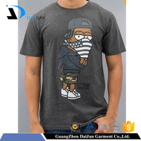 Guangzhou daijun oem hot sale shor sleeve men t-shirts with cartoon print