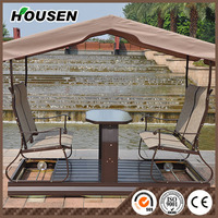 swing chair High quality garden rocking chair,outdoor 4 seater swing HS-20