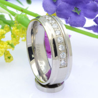 wholesale 316l stainless steel rings with diamond