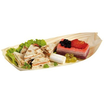"""6"""" 7"""" 8"" Disposable Wooden Sushi Plate"