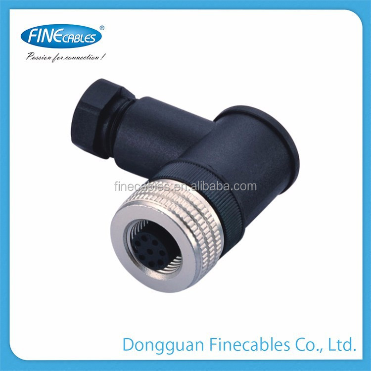 IP67 female m12 Aluminium alloy anodized connector for welding machine