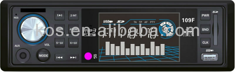 Fixed panel fm modulator car mp3 player